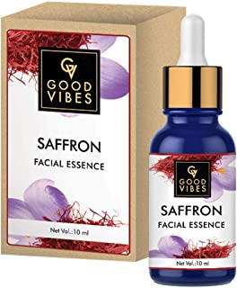 Good Vibes Saffron Facial Essence - 10 ml - Imparts Continuous Hydration and Brightens Skin Complexion - Cruelty Free