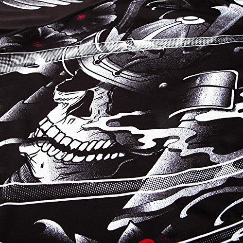 Venum Mens Samurai Skull Rash Guard Long Sleeve, Men, Samurai Skull