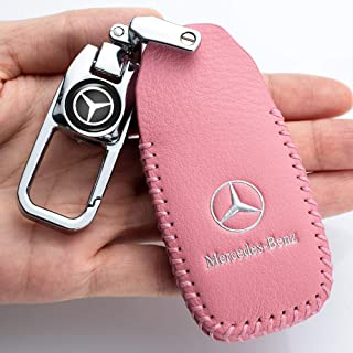 Genuine Leather Car Key Cover key case Suit for Mercedes Benz E Class, 2018 up S Class, 2017 2018 W213 Key Fob cover Smart...