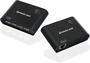 IOGEAR USB 4-Port USB Extender over Ethernet 164 Feet, GUCE64