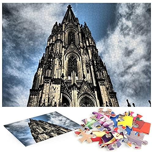 Catedral de Colonia Colonia Alemania Europa Cielo Puzzles Infantiles 3 AñOs Un Regalo de un Equipo de Juego Familiar a un Amante o Amigo.