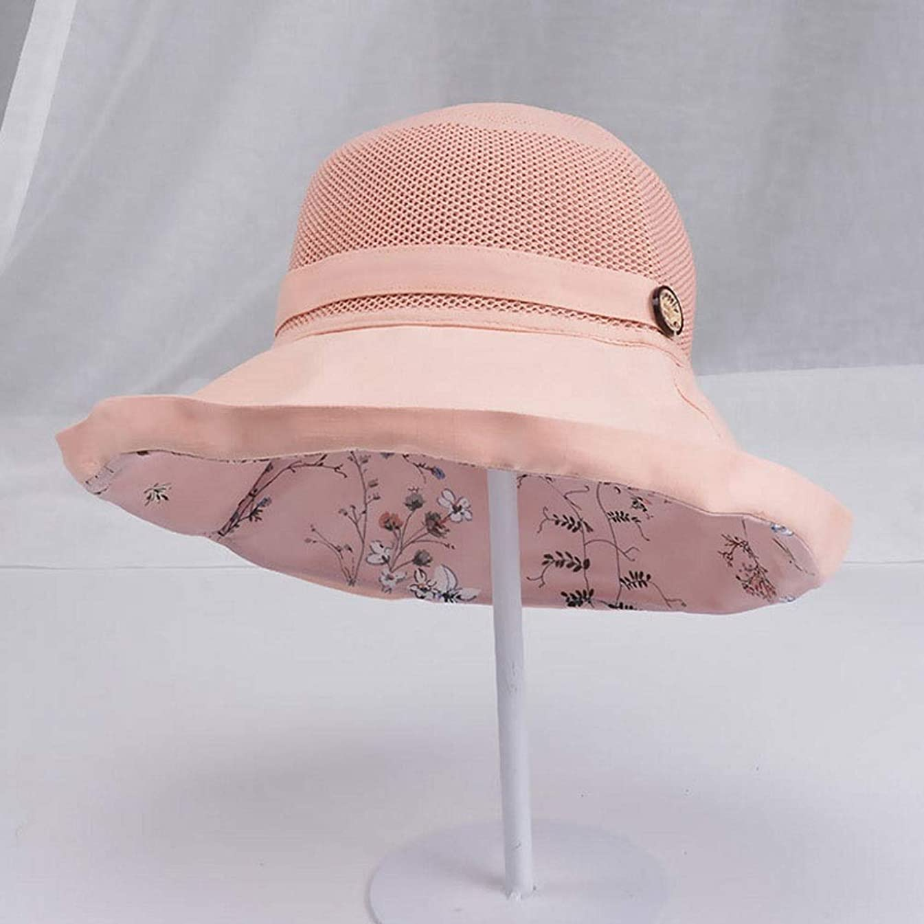 LDDENDP Foldable Fashion Basin Hat Spring and Summer Fisherman Hat Wide-brimmed Sun Hat, Fisherman Hat, Outdoor Camping Hiking, Sun Visor Cap, Men's Summer Windproof Fishing Cap UPF 50+ UV Protection