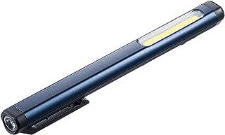 サンワダイレクト LEDライト 懐中電灯 USB充電式 マグネット/クリップ 最大300ルーメン 面発光&ペン先発光 800-LED034