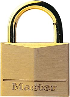 Master Lock 635EURD Key Padlock with Brass Body and Shackle, Gold, 4,7 x 3,4 x 1,2 cm