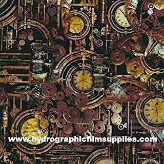 Hydrographic Film - Water Transfer Printing - Hydro Dipping - Steam Punk - 1 Meter