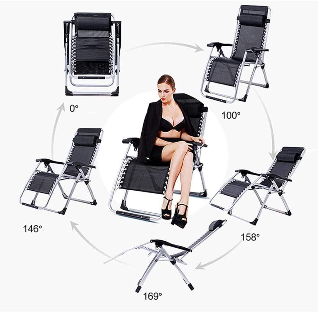 BATOWE Reclining Chaises Pliantes extérieur Pliant Pause déjeuner Déjeuner Président Pause Simple Fauteuil inclinable Nap Portable Chaise Pliante Salon (Color : #9) #8