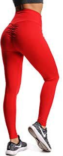 d2dfe5f456ce3 CROSS1946 Women's High Waist Back Ruched Legging Butt Lift Yoga Pants