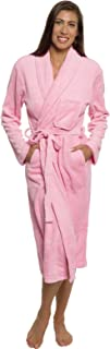 Womens Bathrobe Plush Wrap Kimono Loungewear Gown