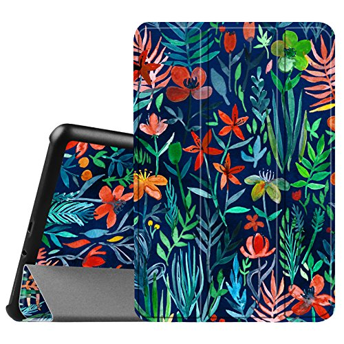 Fintie Slim Shell Case for Samsung Galaxy Tab A 8.0 (Previous Model 2015) - Super Slim Lightweight Standing Cover with Auto Sleep/Wake for Tab A 8.0 SM-T350/T355/P350/P355 2015, Jungle Night