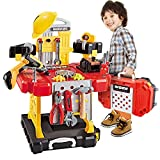Toy Tool, 83 Pieces Kids Construction Toy Workbench for Toddlers Kids Workbench Construction Tool Bench Set, Boys Toy Work Shop for Toddlers