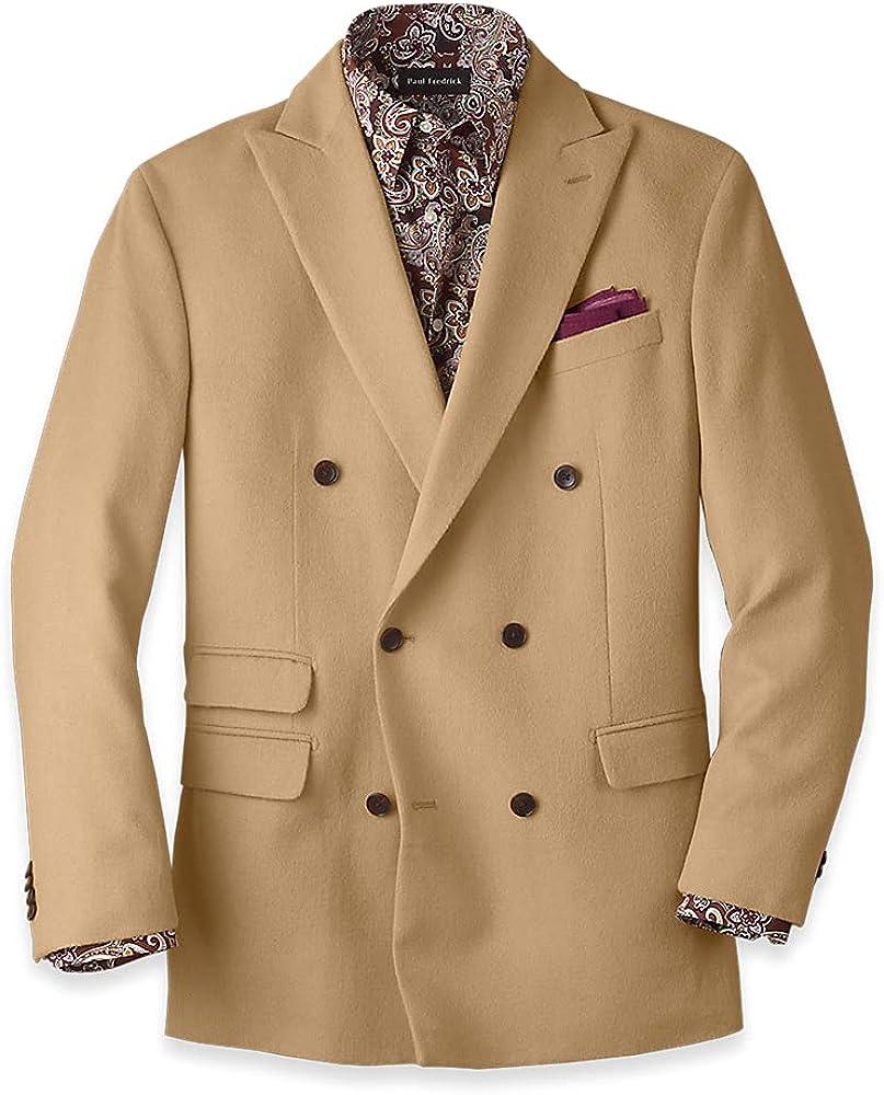 Paul Fredrick Men's Camel Hair Double Breasted Sport Coat