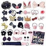 MEISO Pince à cheveux pour bébé avec nœud et accessoires pour cheveux assortis