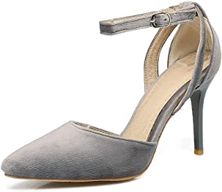 BalaMasa Womens ASL06165 Leather Stiletto Heels