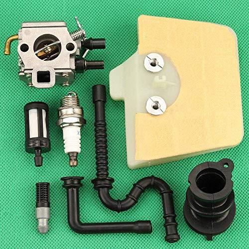 HOUZHEN Piezas de repuesto para kit de filtro de aire de carburador Huq para motosierra Ms340 Ms360 034 036 1125-120-0651