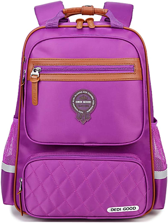 LAIDAYE Kid Girl boy Bookbag School Backpack Water Resistant Elementary Dot Bookbag With Chest Strap