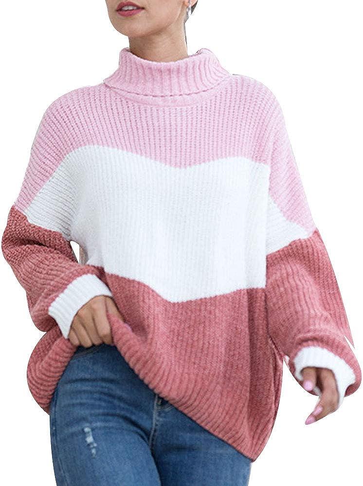 Las Vegas Mall Luxury Women's Turtleneck Long Sleeve Knitted B Oversized Color Sweater