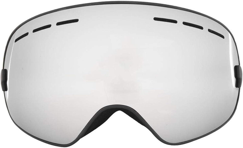 DAUERHAFT Gafas Protectoras Protectoras antivaho para Esquiar(Black Frame + Full Vacuum Silver Plating)