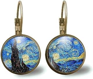"""Orecchini cabochon""""Van Gogh""""la notte stellata"""" - Regalo di Natale per idea regalo moglie - San Valentino-regalo di complea..."""