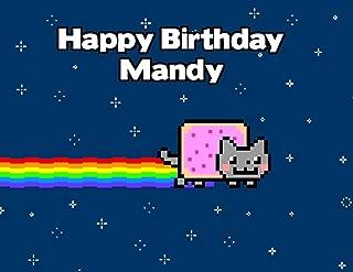 Nyan the Cat Rainbow Image Photo Cake Topper Sheet Personalized Custom Customized Birthday Party - 1/4 Sheet - 77588