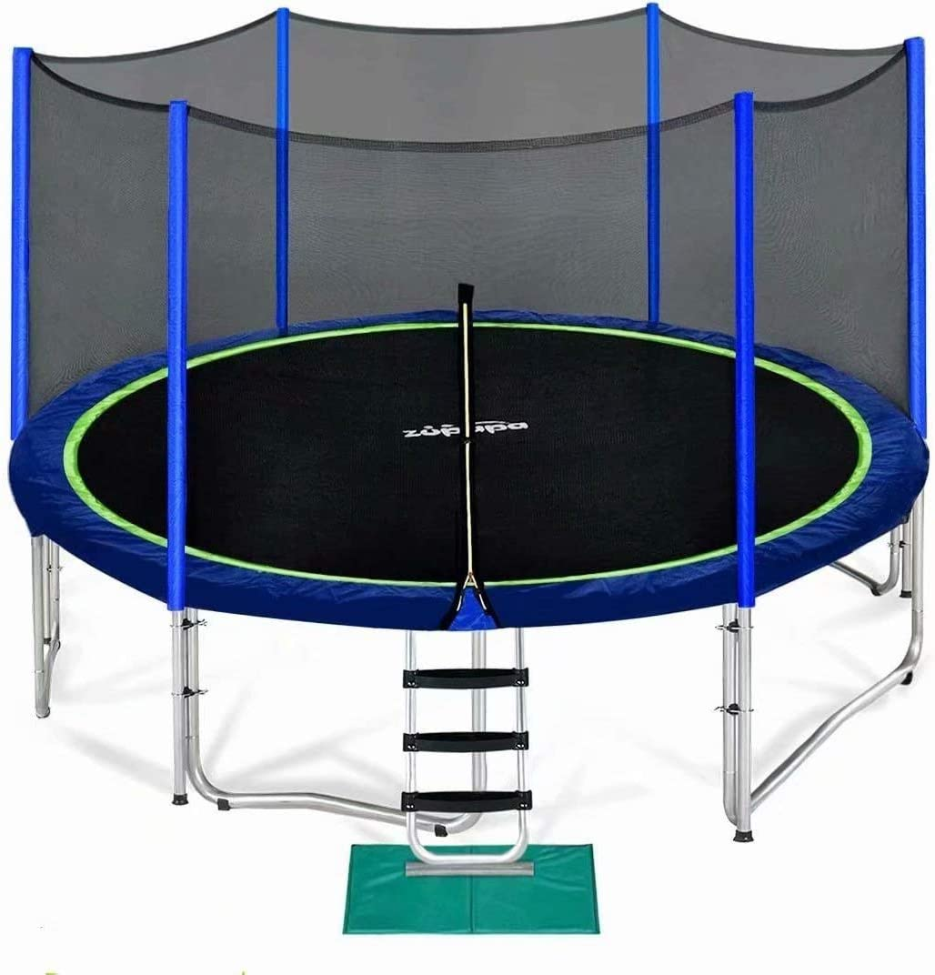 Zupapa 15 14 12 10 Time sale 8FT with Kids Trampoline Enclosure for Safety Low price