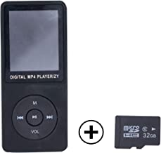 "$49 Get Portable MP3 / MP4 Player, 1.8"" Large Screen Hi-Fi Stereo Sound Music Player with FM Radio, Voice Recorder, Video Play, Text Reading, Browse Photos + 32 GB TF Card, Wired Headphones, Charging Cable"