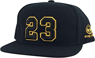 36471691e2b0c3 Player Jersey Number  23 X Air Jordan Color Snapback Hat Cap Black Yellow  Outline