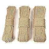 barcos cuerda decorativa para jard/ín cuerda de c/á/ñamo natural cuerda de sisal 6 mm Cuerda de yute 100/% natural pasamanos cuerda multiusos 60 mm mascotas Roban Fashion/®