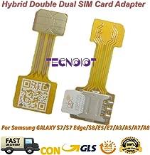 TECNOIOT Hybrid Dual SIM Card Adapter Micro SD Nano SIM Extension Adapter for Android | Dual SIM Adaptador Nano a Nano SIM Adaptador SIM Tarjeta Cable de extensión para Samsung Huawei Xiaomi HTC
