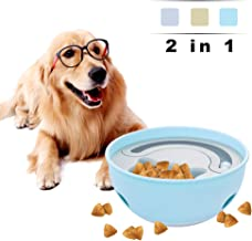 YoTelim 2 in 1 Slow Feeder Dog Bowls, Tumbler Leaking Food Bowls Interactive Dog Toys Cat Food Bowls Fun Feeder No Choking IQ Training Pet Play Bowl for All Kind of Dog & Cat