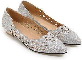 LaBiTi Women Ballet Flats Pointed Toe Slip On Closed Toe Shoes