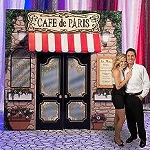 Cafe Paris France Standup Photo Booth Prop Background Backdrop Party Decoration Decor Scene Setter Cardboard Cutout