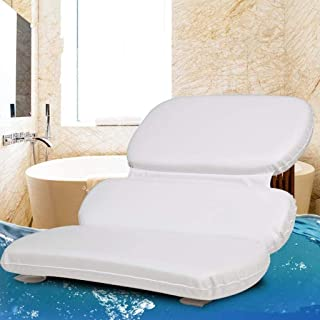 YXHMdd Bathtub Pillow with Non-Slip Suction Cups , Head Rest and Back Support Cushion with Neck Support ,for Relaxing Baths Bathroom Accessories