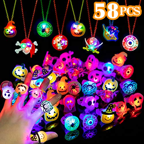 LED Flash Rings and Necklaces