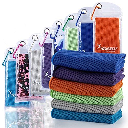 Syourself - Toalla refrescante para Alivio instantáneo. Toallas refrescantes para Yoga y Fitness de 100 cm x 30 cm. Se Usan como Bufandas refrescantes para la Cabeza o para el Cuello