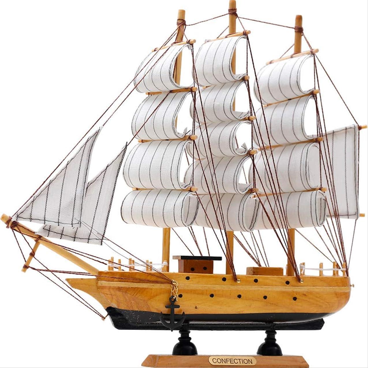 馬力定義するダニ装飾品置物ギフト室内装飾 地中海木製工芸品ヴィンテージシミュレーションヨットモデル船ホームオフィスデスクトップ装飾ギフト