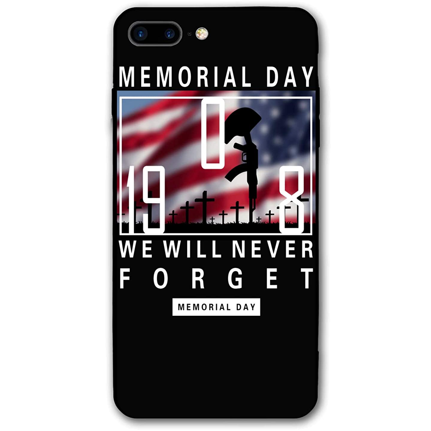 Xyybbn We Will Never Forget Memorial Day \r\nNice Skid-Proof Accessories Mobile Case for iPhone 7Plus/8Plus