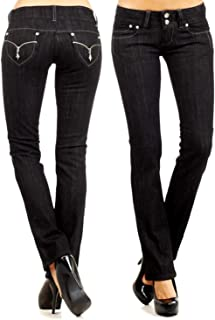 New Silver Kiss/LIA Verona/Clash/Jack David Jeans Junior Women's Blue Denim Premium Stretch Bootcut Jean Pants