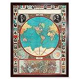 GPC 1913 World Map Colonial Power Panama Canal Art Print