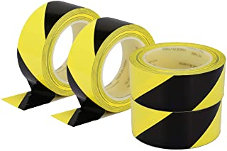 "Hazard Warning Safety Stripe Tape 36 Yards x 2"" x 4 rolls Yellow Black Caution Tape Roll Waterproof Anti Slip Non-abrasive..."