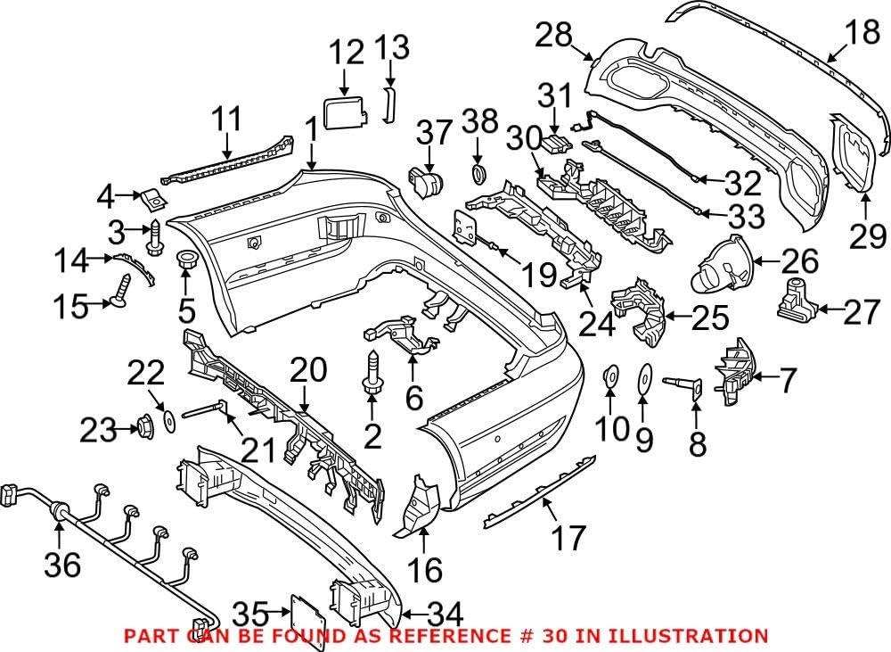 Genuine OEM Bumper Cover 2128050014 Mercedes Max 63% OFF Bracket for Popularity