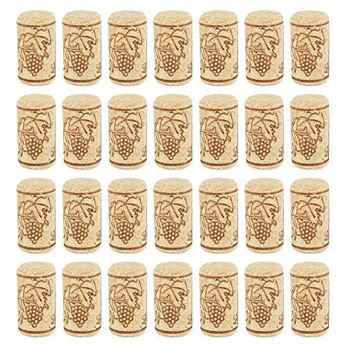 Your's Bath Weinkorken Verschluss Bastelkorken 100 Stück Flaschenkorken Zum Dekorieren Verschönern und Basteln 21 * 40mm