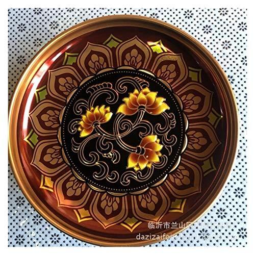 WanXingY Buda Herramientas Religioso Altar Adoración Lotus Aleación Antigua Buddhist Ofrece Placa Plato Tributo Placa Ritual Buda Herramientas (Size : 8Inch)