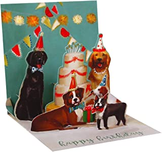 3D Pop Up Birthday card - DOGS and CAKE
