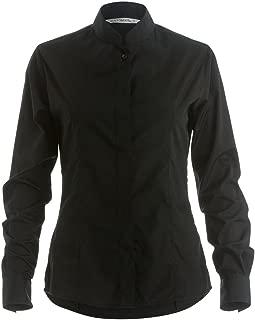 Womens/Ladies Mandarin Collar Fitted Long Sleeve Shirt