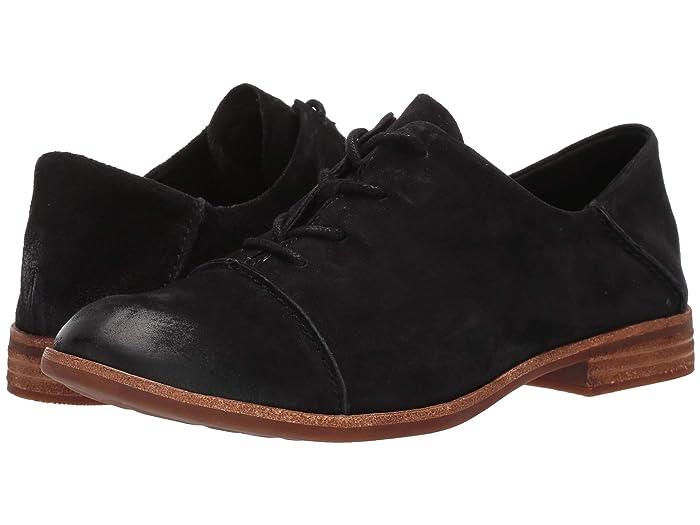 1920s Shoes UK – T-Bar, Oxfords, Flats Kork-Ease Tillery Black Suede Womens Shoes $135.00 AT vintagedancer.com