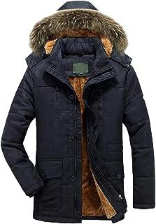 Eimvano Mens Winter Lined Faux Ski Jacket Windproof Fleece Parka Rain Jacket Winter Coat