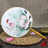 JWJY 結婚式イベントパーティーはホームデコレーション誕生日ギフト用品に関しては、中国古代の宮殿スタイルラウンドファンの手には、シルクファンを開催しました (Color : A)