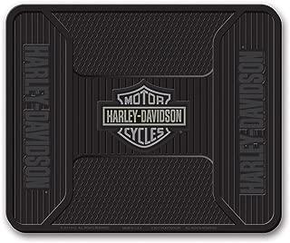 HARLEY-DAVIDSON Utility Mat, Elite Series Bar & Shield, Non-Carpeted, Gray 1107G