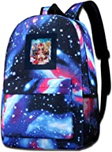 Galaxy Printed Shoulders Bag Magic Knight Rayearth Hikaru Umi And Fuu Fashion Casual Star Sky Backpack For Boys&girls