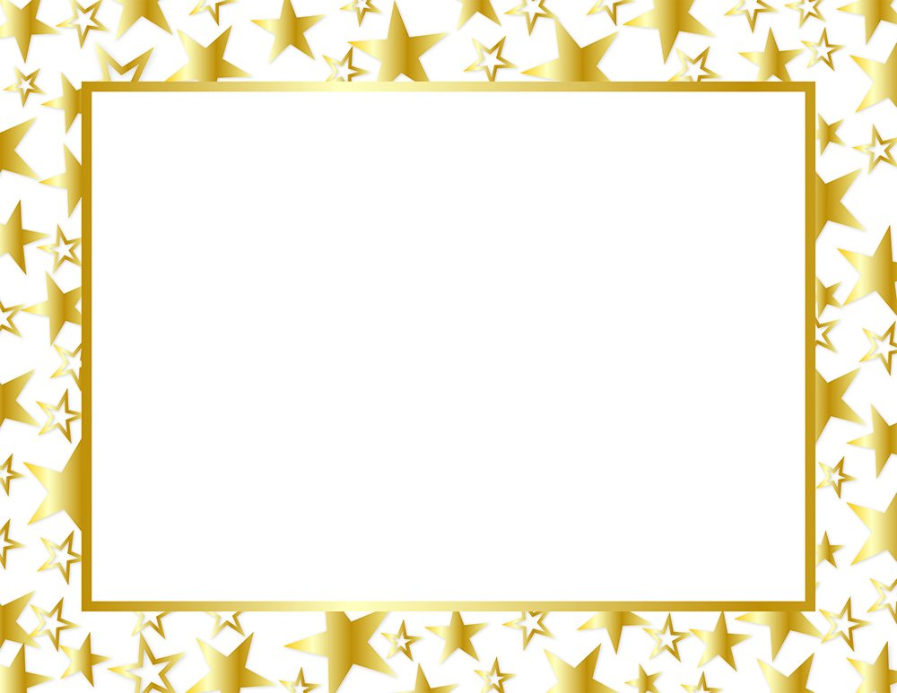 """Great Papers! Twinkle Gold Foil Certificate, 8.5"""" x 11"""", 50 Count (2014025)"""
